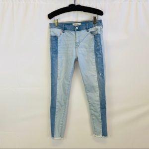 Pacsun color block ankle jegging Denim Jeans 28